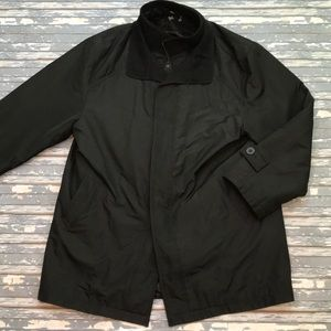 🔥 Hugo Boss mens L black winter coat EUC